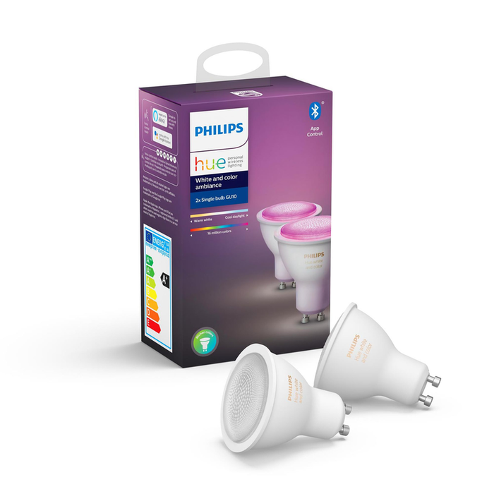Philips HUE WHITE AND COLOR AMBIANCE GU10 DUOPACK