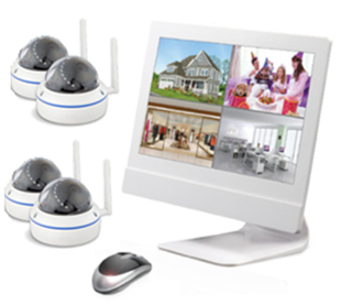 Syren WIFI 12quotLCD NVR 1TB 4 DOME - in Camerabewaking