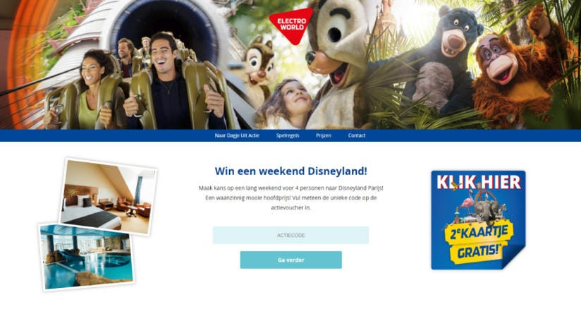Win een weekend Disneyland