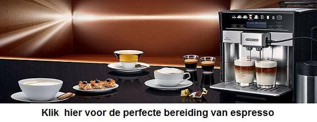 Siemens bereidingswijze Espresso