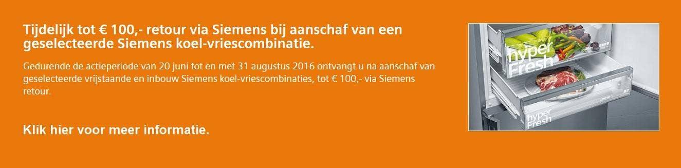 Siemens Hyperfresh doorklik op actiepagina